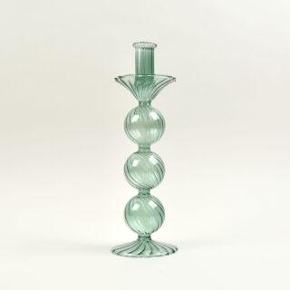 Venezian Glass Candle Holder - Design No. 1 - Green