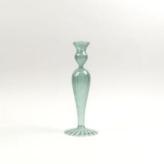 Venezian Glass Candle Holder - Design No. 2 - Green