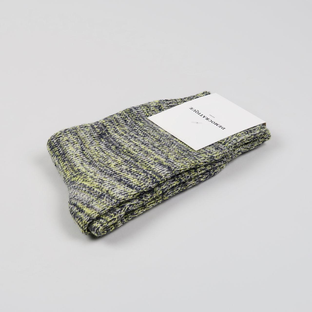 Women's Socks - Relax Chunky Knit - Warm Grey/Soft Grey/Bright Yellow/Navy