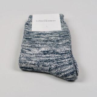 Men's Socks - Relax Chunky Knit - Dark Emerald, Off White