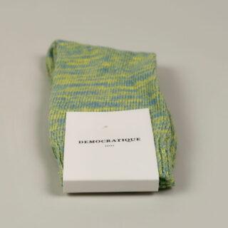 Men's Socks - Relax Chunky Knit - Palm Springs Blue, Yellow Sun