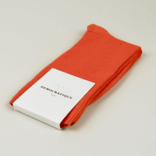 Men's Socks - Champagne Pique - Blood Orange