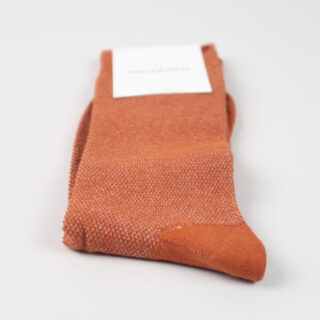 Men's Socks - Champagne Pique - Rust