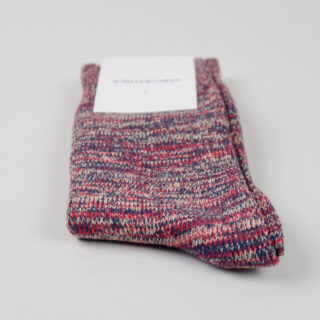 Men's Socks - Relax Chunky Knit - Navy/Pearl Red/Casual Sand