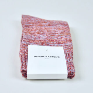 Men's Socks - Relax Chunky Knit - Red Wine/Pale Skin/Burnt Rust/Palm Springs Blue