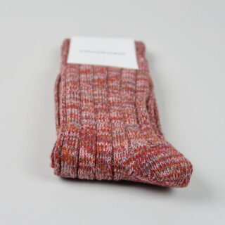Men's Socks - Relax Heavy Rib - Red Wine/Pale Skin/Burnt Rust