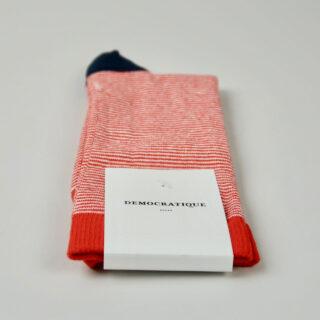 Men's Socks - Spring Red/Navy/Clear White