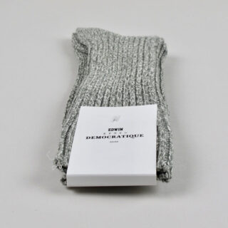 Men's Socks - Edwin - Relax Rib Knit - Army/Off White