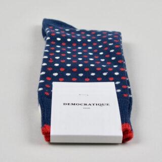 Men's Socks - Polka Dot - Shaded Blue/Opal/Off White