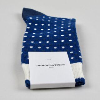 Men's Socks - Polka Dot- Shaded Blue/New Blue/Off White