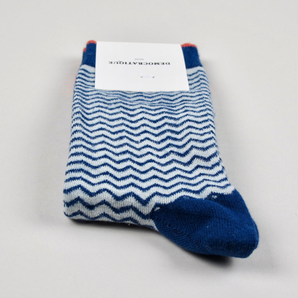 Men's Socks - Zigger Zagger - Hard Grey/Shaded Blue/Opal