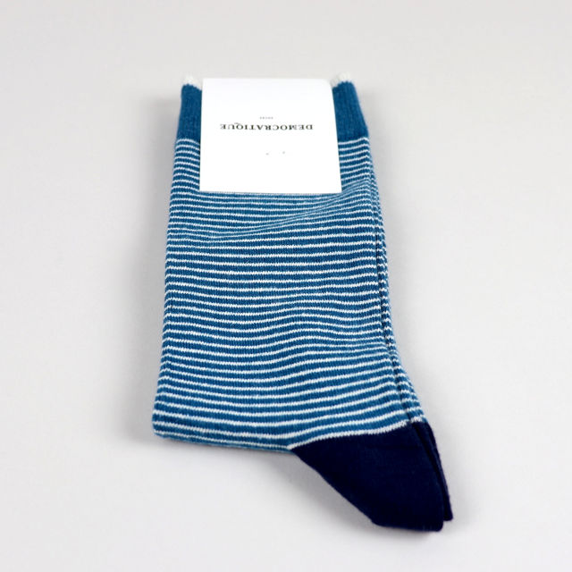 Men's Socks - Mini Stripes - Benzin/Off White/Navy