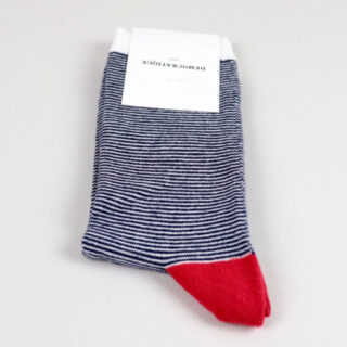 Men's Socks - Ultralight Stripes Navy/Off White/Pearl Red