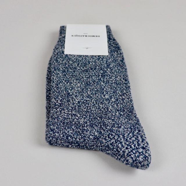 Men's Socks - Sailor Knit - Benzin/Shaded Blue/Off White/Light Grey