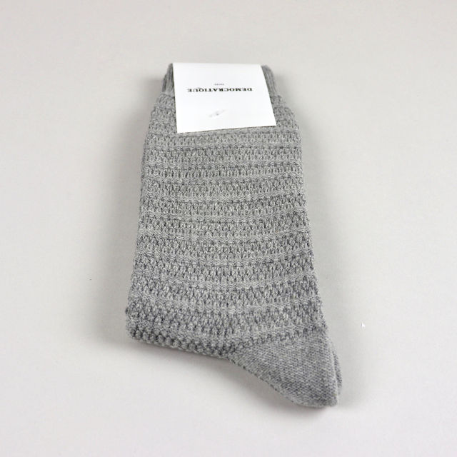 Men's Socks - Slub Knit Light Grey