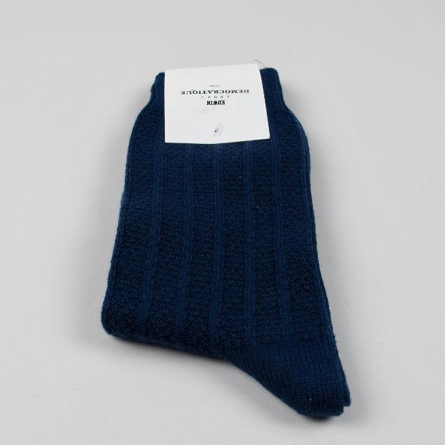 Men's Socks - Edwin Jeans Bubble Knit - Navy