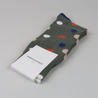 Men's Socks - Original Dots - Army/Dusty Orange/Dark Ocean Blue/Off White/Dark Sand