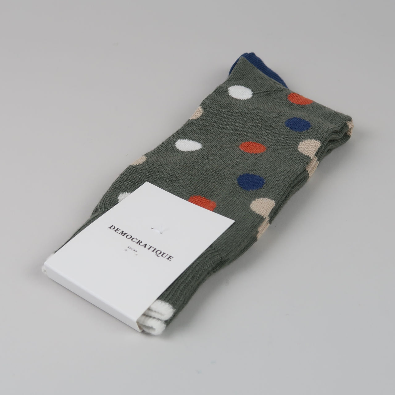 Men's Socks - Original Dots - Army/Dusty Orange/Dark Ocean Blue/Off White/Dark Sand