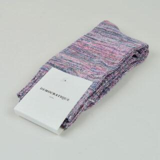 Men's Socks - Relax Chunky Knit - Pink Fleur/Army/Off White/Light Diesel