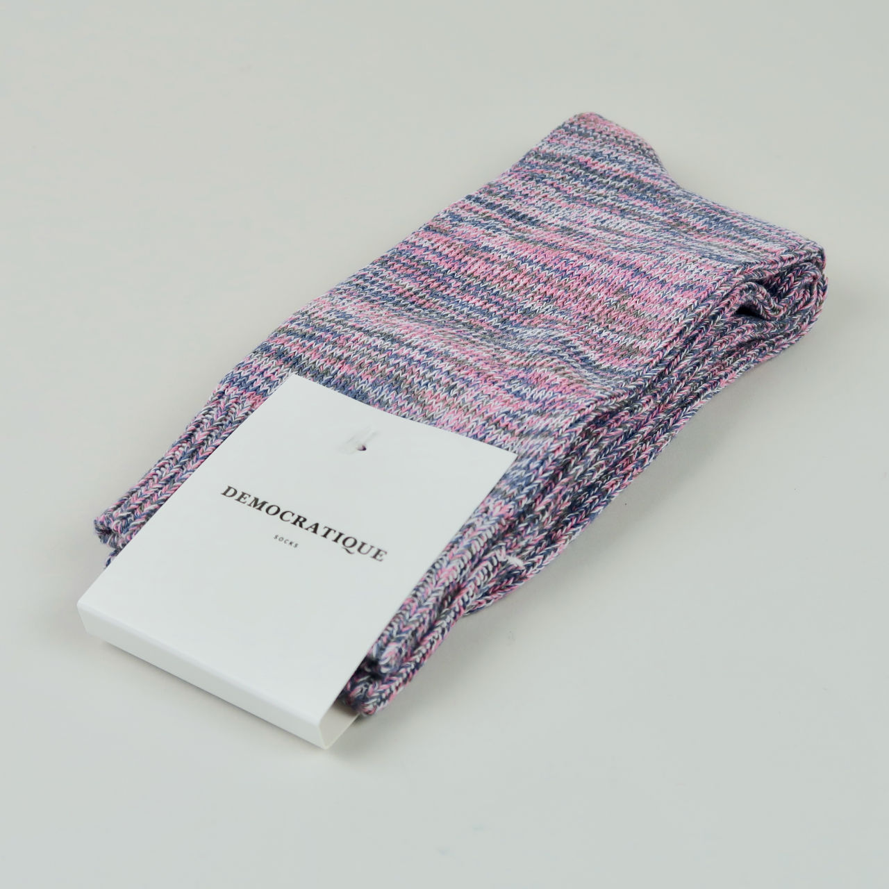 Men's Socks - Relax Chunky Knit - Pink Fleur/Army/Off White/Light Diesel