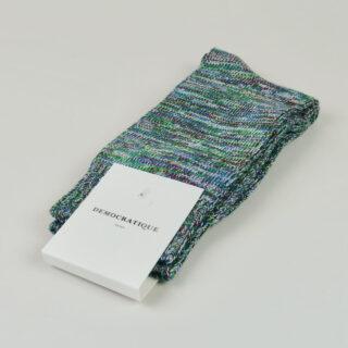 Men's Socks - Relax Chunky Knit - Adam's Blue/Ocean Blue/Off White/Grass Green