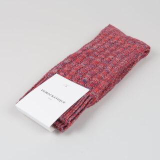 Men's Socks - Relax Schooner Knit - Pearl Red/Dark Ocean Blue/Light Grey Melange
