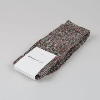 Men's Socks - Relax Schooner Knit - Army/Bordeaux Red Wine/Off White/Navy