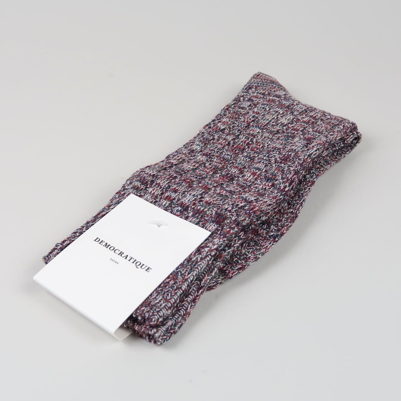 Men's Socks - Relax Schooner Knit - Dark Plum/Off White/Grass Green