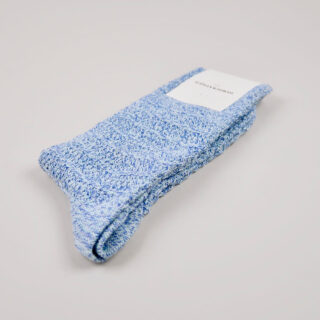 Men's Socks - Relax Slub Knit - Poolside Green/Off White/Adam's Blue