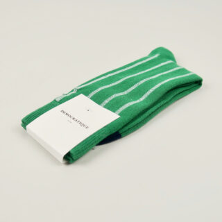 Men's Socks - Latitude Striped - Tennis Green/Clear White/Navy
