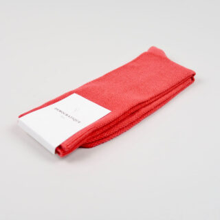 Men's Socks - Champagne Pique - Spring Red