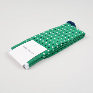 Men's Socks - Polka Dot - Tennis Green/Navy/Clear White