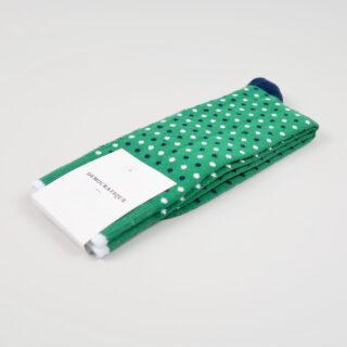 Men's Socks - Polka Dot - Tennis Green/Navy/Clear White