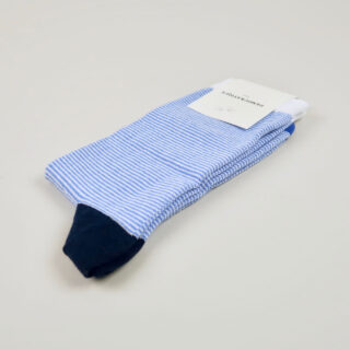Men's Socks - Ultralight Stripes - Adam's Blue/Clear White/Navy