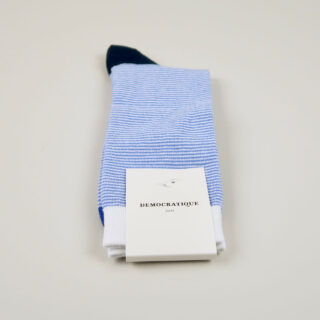 Men's Socks - Ultralight Stripes - Adam's Blue/Clear White/Navy
