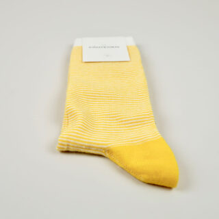 Women's Socks - Ultralight Stripes - Dominant Yellow/Off White/Navy