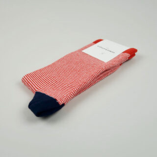 Men's Socks - Ultralight Stripes - Spring Red/Navy/Clear White