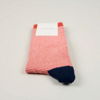 Men's Socks - Ultralight Stripes - Spring Red/Navy/Clear White