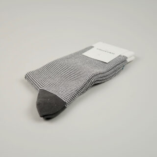 Men's Socks - Ultralight Stripes - Warm Coal/Off White/Diesel