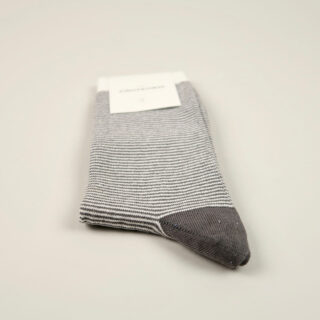 Men's Socks - Ultralight Stripes - Warm Coal/Off White/Diesel