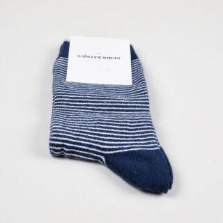 Women's Socks - Mini Stripes - Navy/Broken White