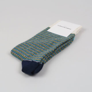 Mens Socks - Ultralight Stripe - Navy, Yellow Sun, Swimmingpool, Off White