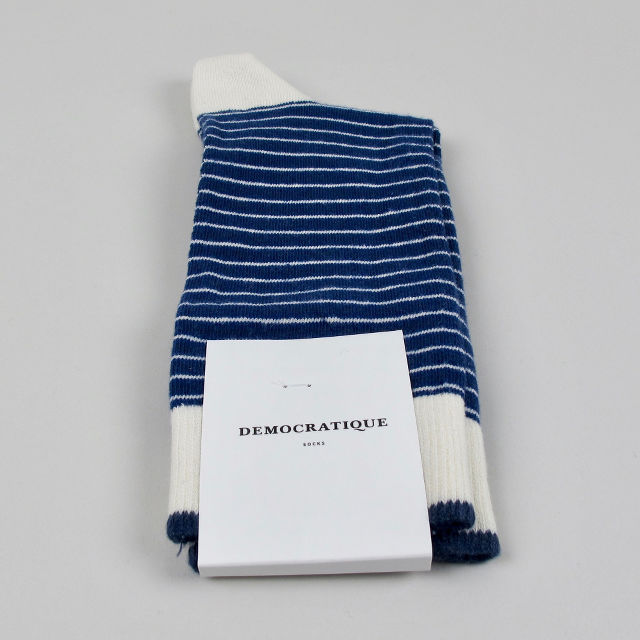 Men's Socks - Mini Stripes - New Blue/Off White / Shaded Blue