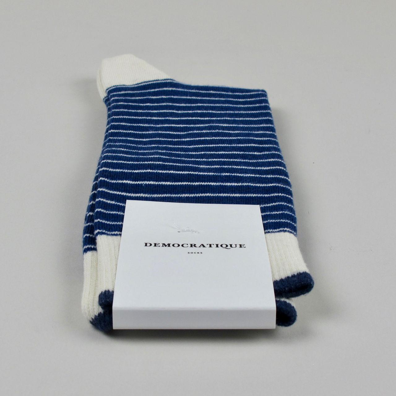 Men's Socks - Mini Stripes - New Blue/Off White/Shaded Blue