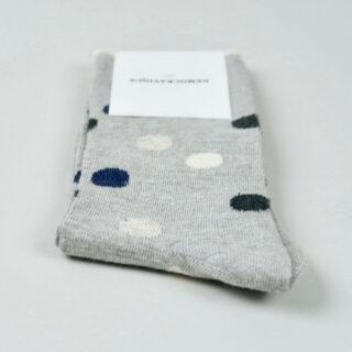 Women's Socks - Original Dots - Light Grey Melange/Navy Melange/Charcoal Melange