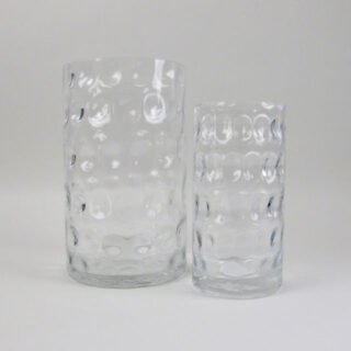 Dimple Glass Vase - Small