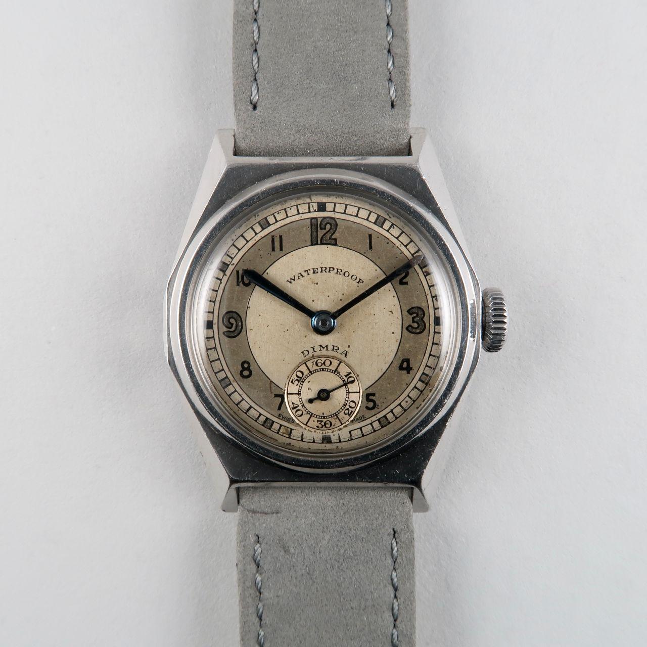 Dimra / Taubert circa 1940 | steel vintage waterproof wristwatch
