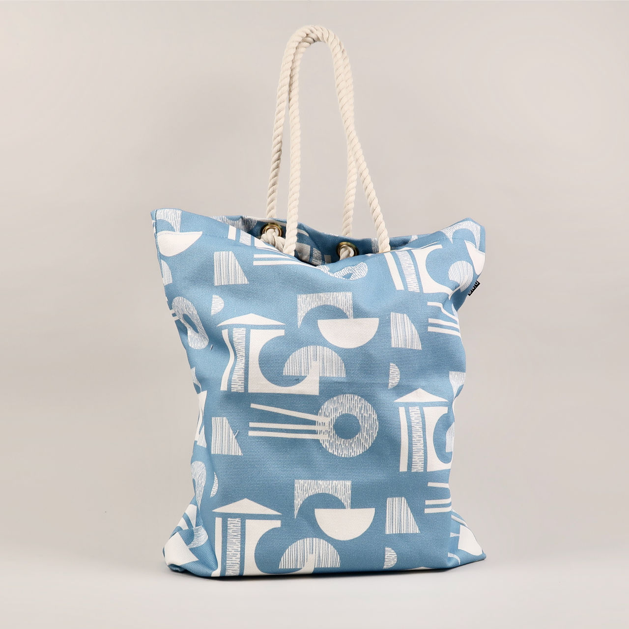 Glasses Design Tote Bag - Wedgwood Blue