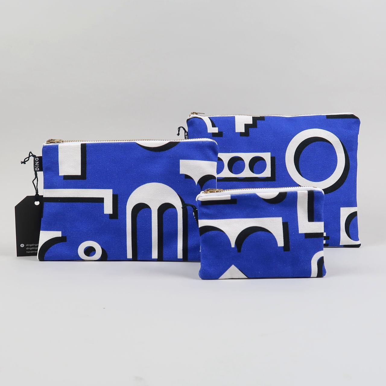 Factory Design Cotton Pouch - Blue