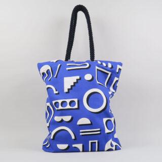 Factory Design Tote Bag - Blue
